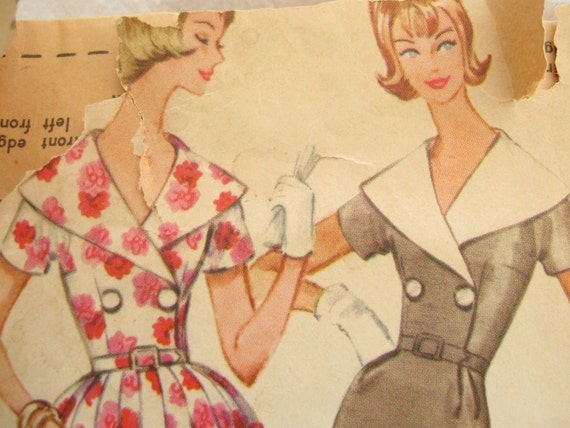 60's Wiggle Dress Vintage Sewing Pattern: McCalls 5692, Bust 40