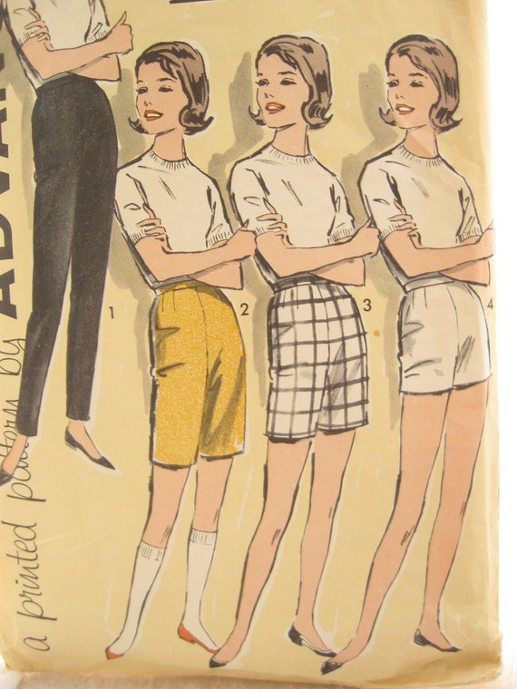 1960s Pants Pattern Advance 9864 Shorts or Trousers Sewing Pattern Sew Easy