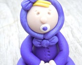 Baby Girl in a snowsuit Polymer Clay