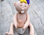 Baby with bottle Polymer Clay