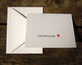 Blank Valentines Day card set of 6
