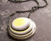 Lemon Sky Necklace with Layered Paper Pendant