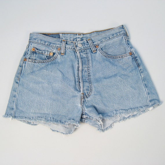 Vintage 1980s LEVI denim cut-off shorts