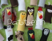 PATTERN-PDF- Barnyard Buddies- Furry Fingers Finger Puppets