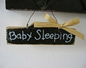 Baby Sleeping- Small Requests Mini Wood Sign