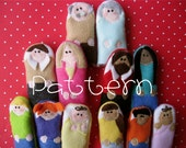 PATTERN- PDF- Happy Family- Furry Fingers Finger Puppets