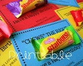 Printable- PDF- Chews the Right- LDS Primary Birthday Gift Idea