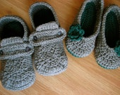 His and Hers Crocheted House Slippers- You choose colors