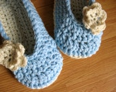 CUSTOM LISTING- 2 pairs Womens Crochet House Slippers- reserved for kmolanda