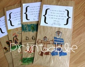 Printable- PDF- Paper Lunch Sack Poem- Father's Day Gift Idea