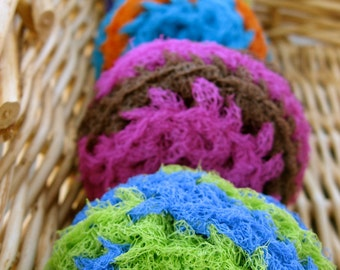Set of 4- Funky Swirl Nylon Net Scrubbies