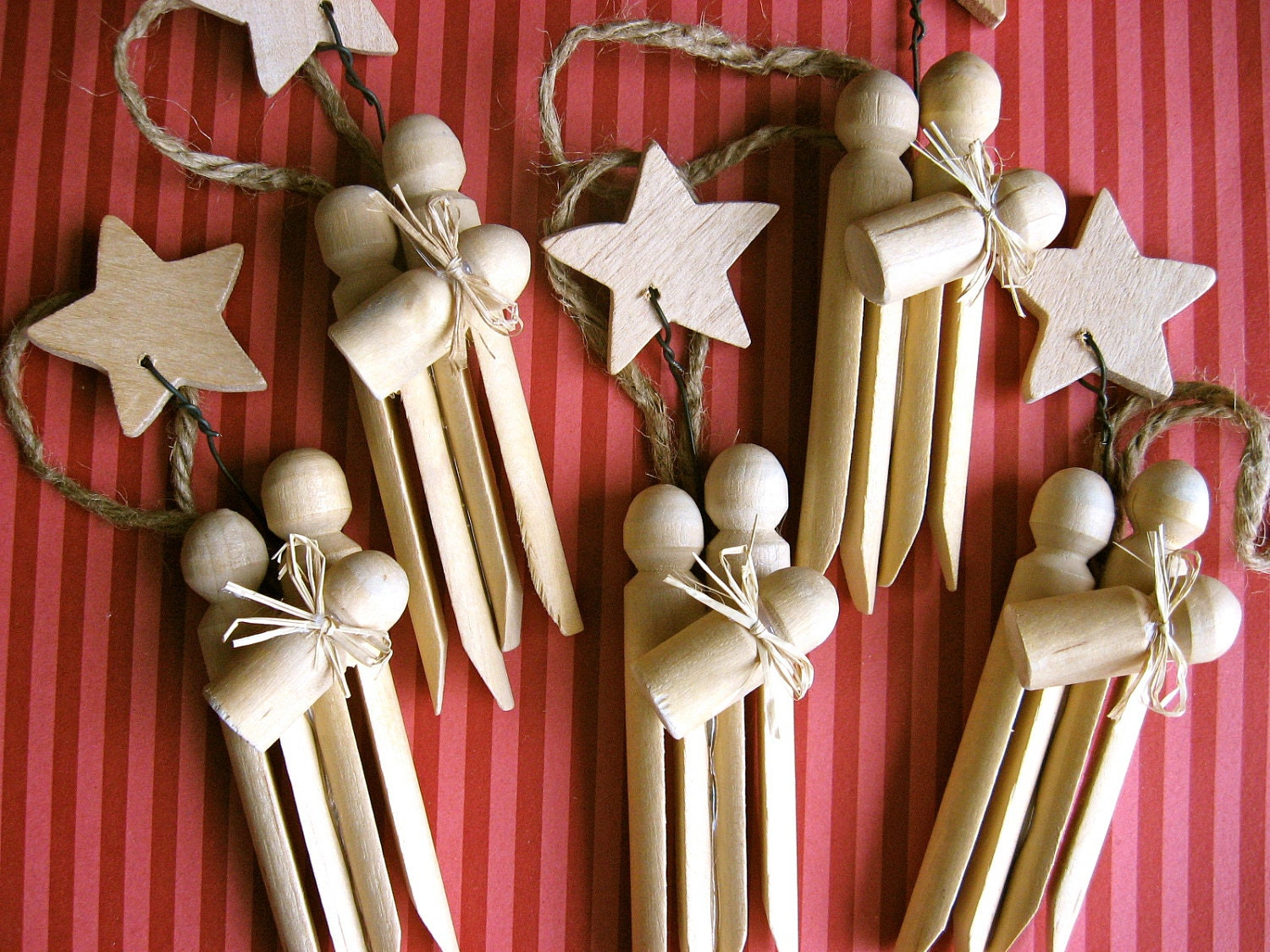 Set of 3 clothespin nativity ornaments for Christmas decorations to make at home with the kids