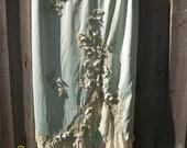 SAGE AND SPIRIT by Mandalay Very High End vintage satin applique sequin velvet flowers soft frills line skirt