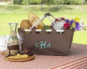Personalized Large Brown Market Tote
