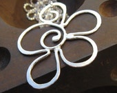 Swirling Flower Necklace