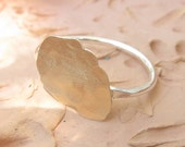 Sterling Silver and Gold Ring