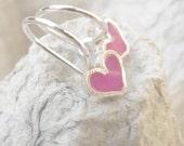 Girls Earrings Tiny Light Pink Heart