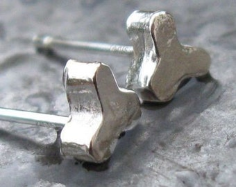 Post Silver Earrings
