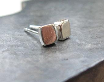 Post Earrings-Square