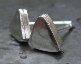Studs Earrings Post Earrings Sterling Silver Earrings everyday earrings Triangle