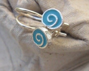 Tiny Swirl Earrings