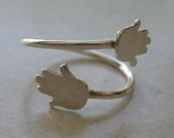 Hamsa Ring,Good Luck Ring,Charm,Silver Ring.Sterling Silver ring.Silver Hamsa Ring.