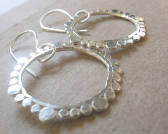 Circles Silver Earrings