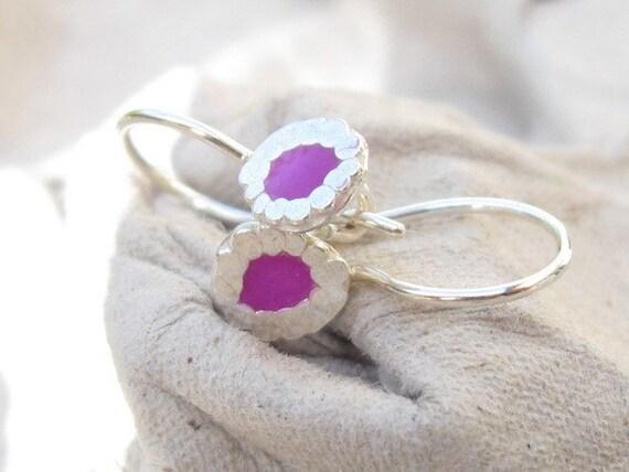 Tiny Purple Earrings