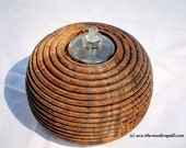 Free Shipping Black Walnut Confetti Oil Lamp