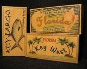 Key West  Islamorada Key Largo Florida fishing lure boxes ocean beach house decor