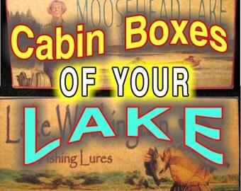 Fishing tackle decor cabin boxes North Dakota to North Carolina...Personalized lure boxes