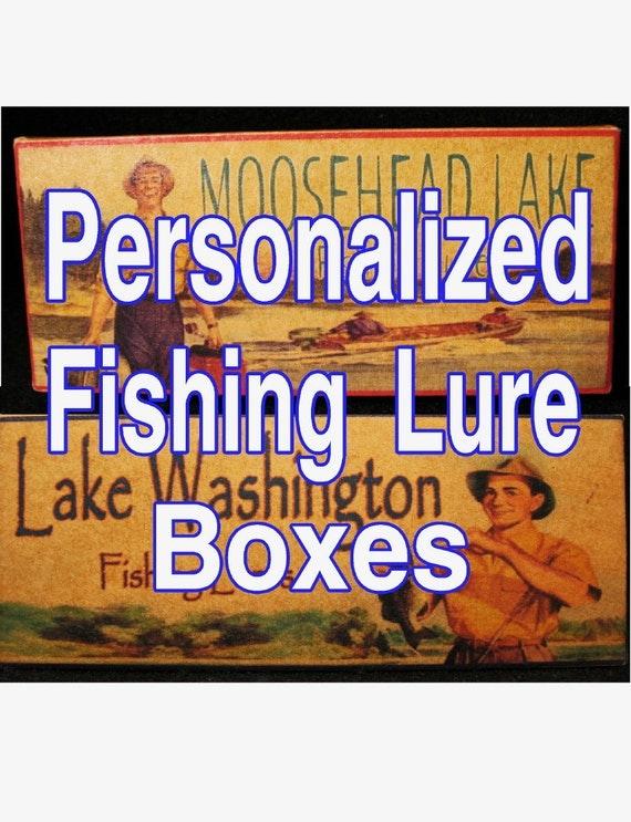 Fishing lake house decor cabin trout michigan minnesota gift lure boxes