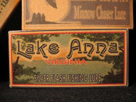 Lake Anna Fishing Decor Cabin Lake House Nostalgic Fishing
