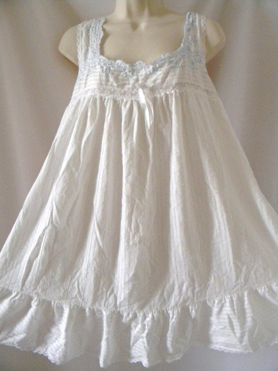 White Cotton Babydoll Nightie Med Large