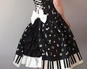 Alice Gothic Lolita Corset Dress- underbust corset dress, steel boned, custom made