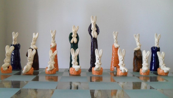 Rabbit Chess Set