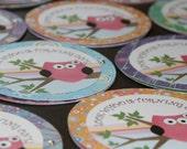 Owl Birthday Invitations,  Custom Birthday Party Decoration, First Birthday, Girl Birthday, Banner, Cupcake Toppers