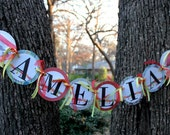 Birthday Name Banner, Woodland Forest Banner, Custom Party Decorations, Owl, Deer, Racoon, Fox