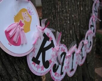 Happy Birthday Princess Decoration, Custom Name Banner, Party Decor, birthday party