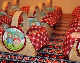 Birthday Party Red Riding Hood Decorations, birthday gift tags, party decor