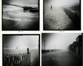Reserved for April - iPhone Set of 4 Foggy Boardwalk Shots 8 x 8