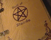 WOOD BOOK Of SHADOWS / Grimoire / Journal / Pentagram / Pentacle /  Hand Made / Wicca / Wiccan / Witch / Pagan