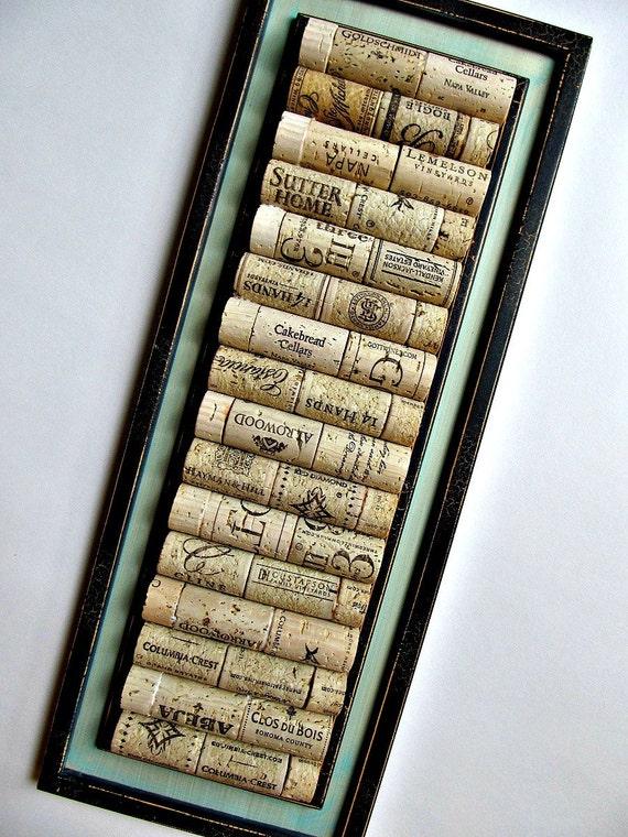 Shabby Black Wine Cork Board