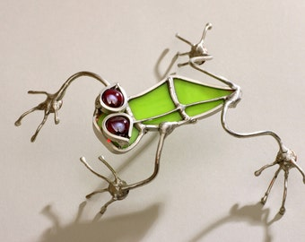 Red Eyed Tree frog Stained Glass Small
