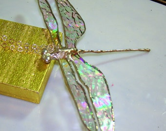 Clear iridescent Large Dragonfly