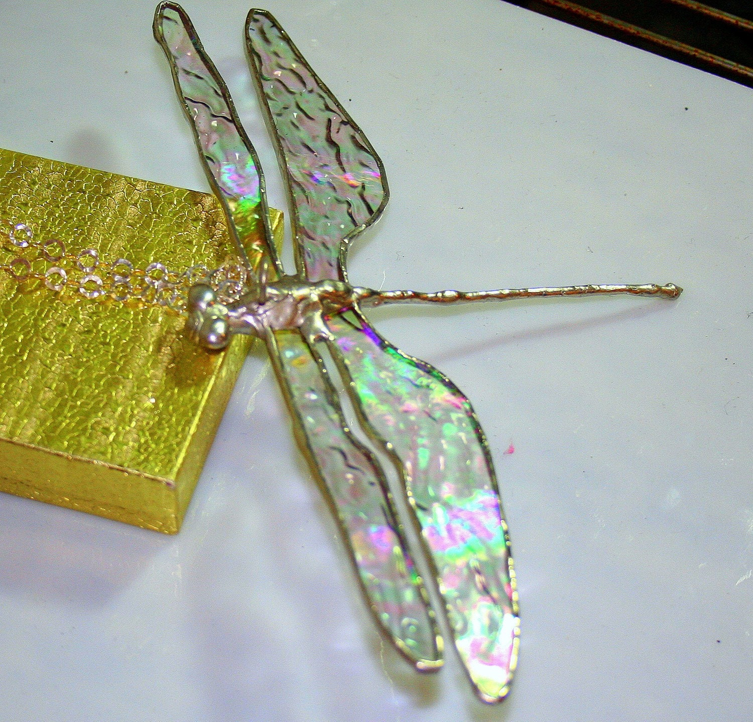 Clear iridescent Large Dragonfly |Iridescent Dragonflies