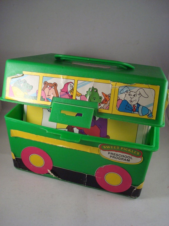 Rare Vintage Sweet Pickles School Bus Preschool Program Educational Activity Box