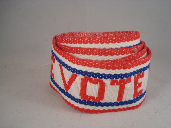 Vintage Patriotic Vote Ribbon