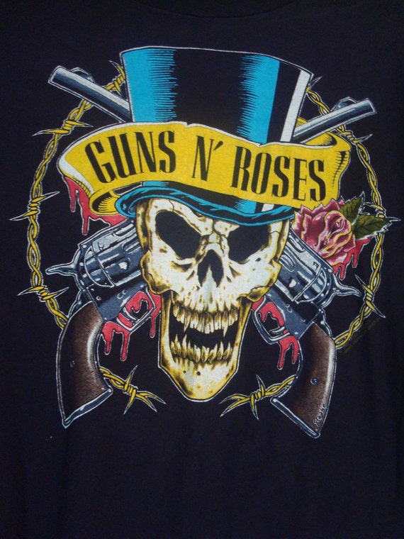 sale vintage guns n 39 roses concert t shirt xl. Black Bedroom Furniture Sets. Home Design Ideas