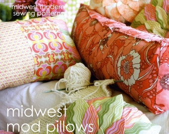 Amy Butler Sewing Pattern Midwest Mod Pillows - FREE SHIPPING
